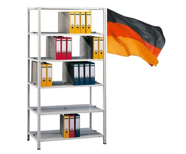 Büroregal / Ordnerregal, Grundregal, beidseitig Nutzbar, Schraubsystem