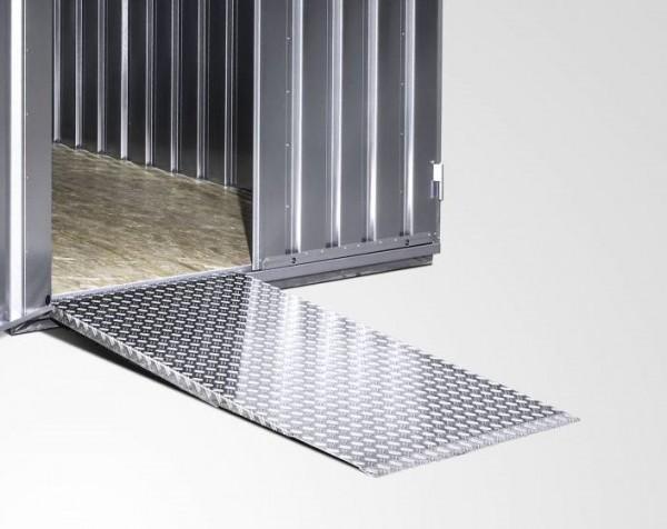 Spezial Auffahrrampe in verstärkter Ausführung aus Aluminium Riffelblech