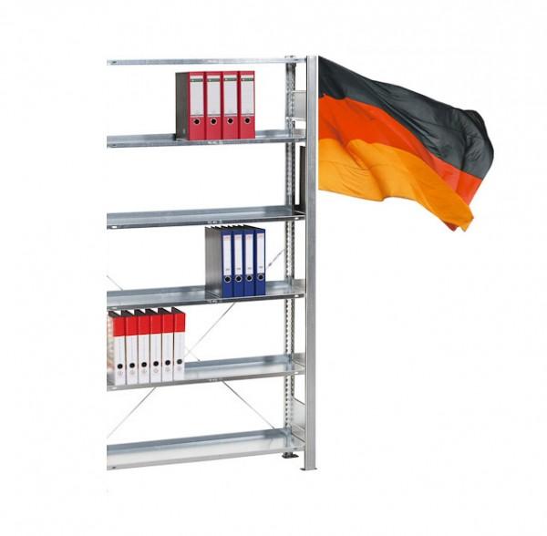 Büroregal / Ordnerregal, Anbauregal, einseitig Nutzbar, Stecksystem