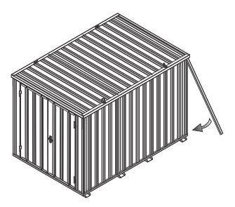Schutzecken (4 Stück) für Baucontainer / Baustellencontainer